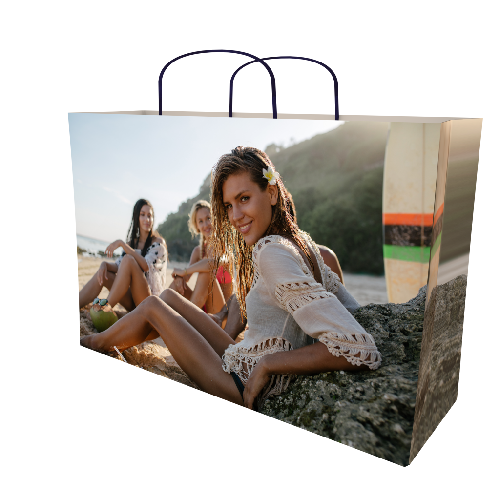 8 colour print luxury paper bag