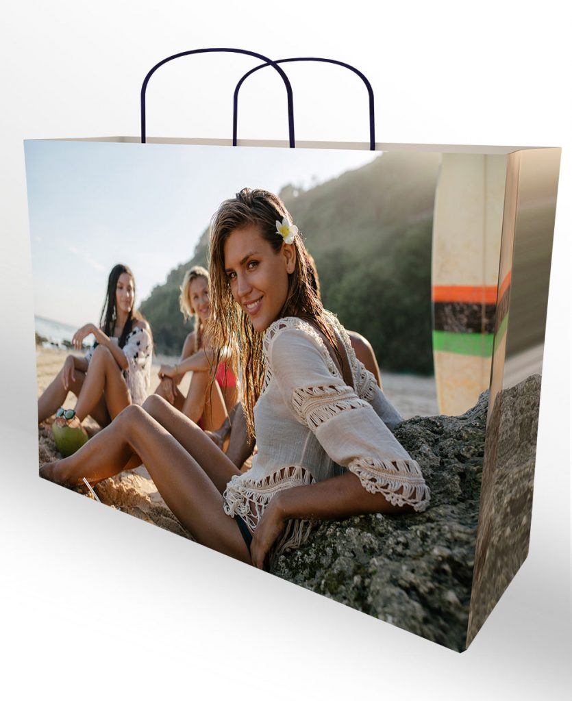 luxury 8 colour printed colour paper shopping bag