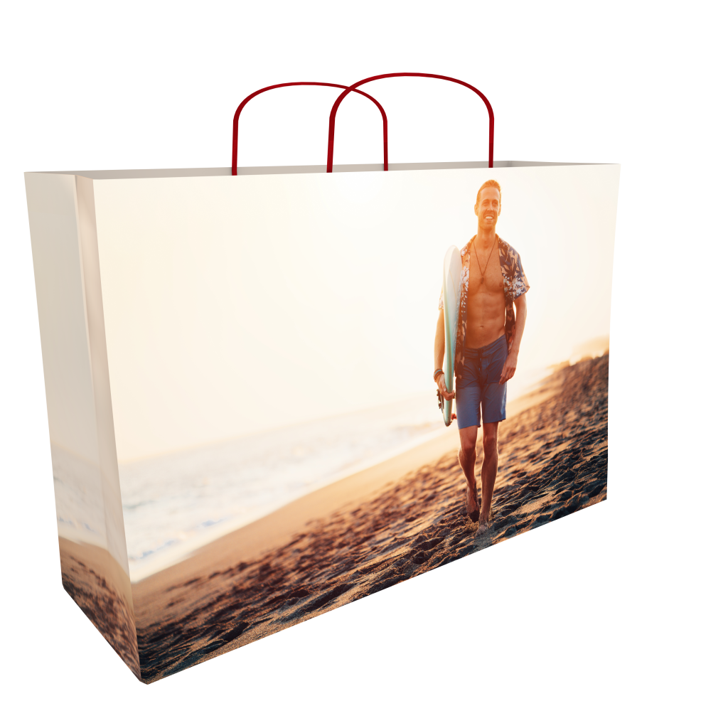 8 colour print paper bag